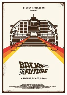 Minimalist, retro design of Back to the Future.