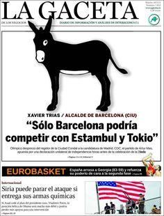 Los Titulares y Portadas de Noticias Destacadas Españolas del 10 de Septiembre de 2013 del Diario La Gaceta de los Negocios ¿Que le pareció esta Portada de este Diario Español?