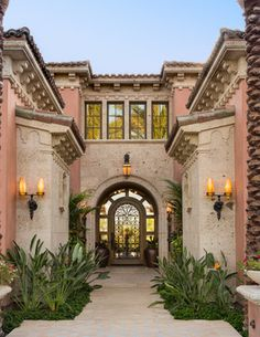 A Spanish Architecture,Floridian(Mizner) - Mediterráneo - Fachada - orange county - de South Coast Architects, Inc.