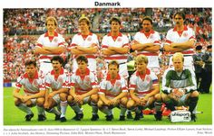 1988 Denmark, Top, left to right:  Soren Busk,  Soren Lerby,  Michael Laudrup, Preben Elkjaer, Ivan Nielsen,  Bottom, left to right:  John Sivebæk, Jan Heintze,  Fleming Povlsen, John Helt,  Morten Olsen, Troels Rasmussen
