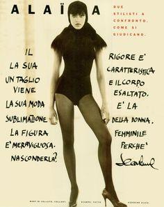 "Vogue Italia October 1988 ""Alaia & Gaultier"" Models & Designer: Naomi Campbell, Unknowns & Azzedine Alaïa Photographer: Arthur Elgort"