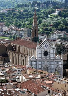 The majestic church of Santa Croce, Florence, Italy