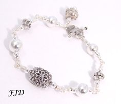 Bali and Sterling Silver Bracelet