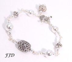 Bali and Sterling Silver Bracelet