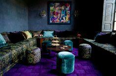The tea room at Tigmiza, Marrakech, Morocco