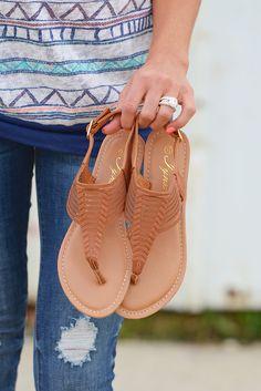 Summer Wanderlust Braided Sandal - Tan from Closet Candy Boutique