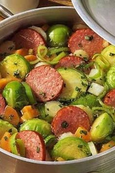 Brussels sprouts stew with Kabanossi # denizürünleritarifleri Brussels sprouts stew with Kabanossi – Recipes – bildderfrau.de Brussels sprouts stew with Kabanossi # denizürünleritarifleri Brussels sprouts stew with Kabanossi – Recipes – bildderfrau. Italian Pasta Recipes, Chicken Pasta Recipes, Pasta Salad Recipes, Seafood Recipes, Soup Recipes, Healthy Recipes, Authentic Mexican Recipes, Mexican Dinner Recipes, Guisado