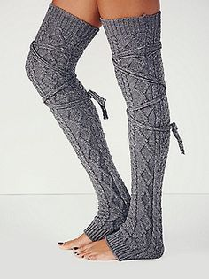 Thigh-high leg warmers