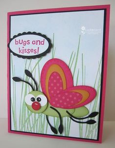 Punch Art butterfly-I did this for Camanche swap. Cute idea for card. Feet & antenae are from bird punch branch.