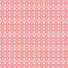 coral ikat   -Pink Chalk Fabric