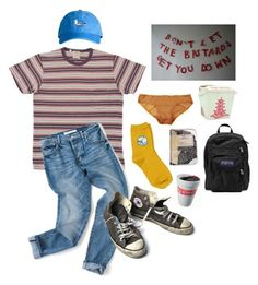 """the bastards"" by shvnnon on Polyvore featuring Eberjey, Converse, Chicnova Fashion, JanSport and Plane"