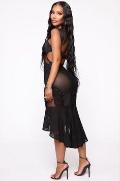 Black Girl Fashion Discover More Than Enough Midi Dress - Black Sexy Outfits, Sexy Dresses, Nice Dresses, Fashion Outfits, Sparkly Dresses, Tight Dresses, Elegant Dresses, Summer Dresses, Formal Dresses