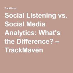 Social Listening vs.