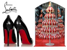 Red-Soled Christmas Trees For Christian Louboutin Boutiques! #christianlouboutin #designerchristmastrees #shoes
