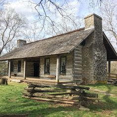 Belle Meade Plantation - This is the cabin that stood on the original 250 acres that John Harding bought in 1807.