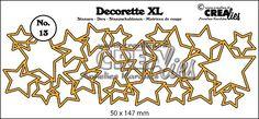 Decorette XL stans/die no. 13, In elkaar grijpende sterren/Interlocking stars