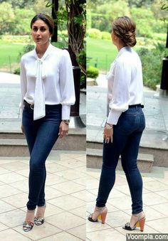 Kareena Kapoor tight jeans sexy figure photo back front Classy Outfits, Sexy Outfits, Casual Outfits, Fashion Outfits, Work Outfits, Bollywood Celebrities, Bollywood Fashion, Indian Celebrities, Bollywood Actress