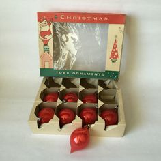 A personal favorite from my Etsy shop https://www.etsy.com/listing/450283234/vintage-christmas-ornaments-red