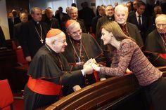 Los Reyes Felipe VI y Letizia visitaron la sede de la Conferencia Episcopal Española con ocasión de su 50º aniversario.  22-11-2106