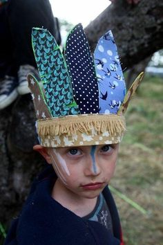 Native American Indian headdress for Dress Up boy by mancelina