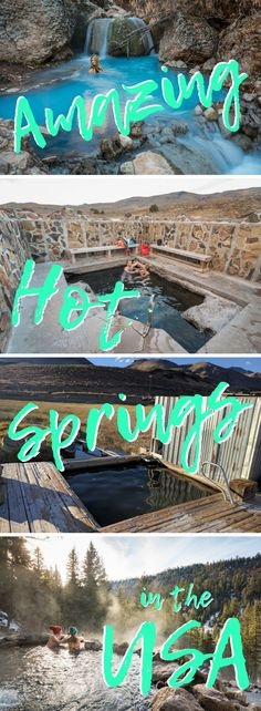 11 Amazing Hot Springs in the USA. A guide to 11 of the most beautiful, off-the-beaten-path thermal pools in the United States!  Stay warm this winter by soaking in one of these hot pools in California, Colorado, Idaho, New Mexico, Texas, Utah, and Wyoming! By Wandering Wheatleys (@wanderingwheatleys)  #hotsprings #hiking #camping #California #Colorado #Idaho #NewMexico #Texas #Utah #Wyoming  #USA