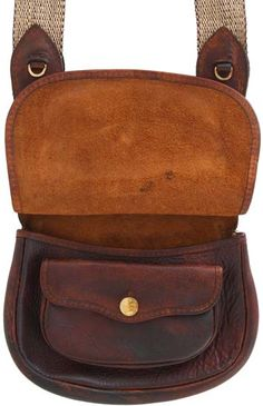 Eastern Style Hunting Pouch, elk tanned leather, by plain front flap - Track of the Wolf Leather Purse Diy, Small Leather Bag, Leather Art, Sewing Leather, Leather Pouch, Canvas Leather, Leather Satchel, Tan Leather, Leather Purses