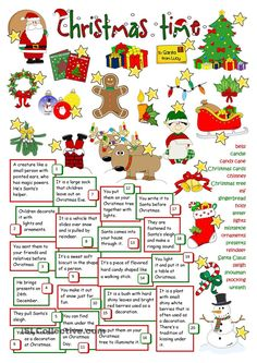 Christmas Time - English Esl Worksheets images ideas from Worksheets Ideas Christmas Tree And Santa, English Christmas, Christmas Games, Kids Christmas, Xmas, Christmas Riddles, Christmas Trivia, Merry Christmas, Christmas Definition