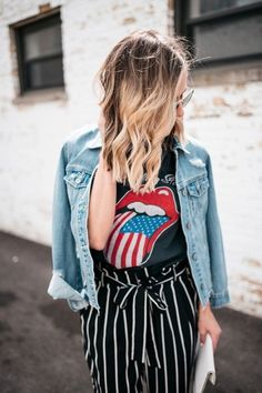 Botox + Band Tees - my kind of sweet Summer Fashion Outfits, Fashion Night, Spring Outfits, Spring Fashion, Casual Outfits, Fashion Tips, Fashion Trends, Style Fashion, Fashion Bloggers
