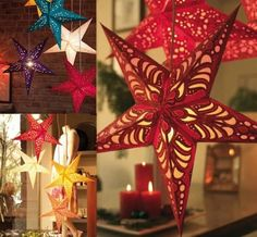 45cm Nepal Colorful Star Christmas Celling Hanging Decorations Christmas Tree Ornaments #Lovejoynet