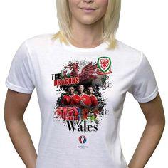#women  #Euro2016 #WALES #Dragons #Dreigiau #GarethBale #ChrisGunter  #EUFA #EUFA16 #PES #Football #Sports #Championship #European #Season2016 Gareth Bale, Wales, Dragons, Euro, Champion, Soccer, Football, T Shirts For Women, Woman