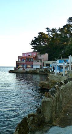 Fishermen's houses near Toulon, France