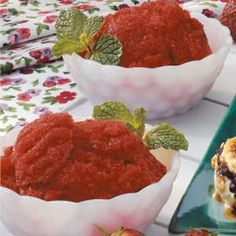 Strawberry Italian Ice (3 ingredients. 3/4 cup = 109 calories, 1g fat, 3 g fiber)