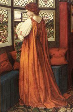 Juliet and her Nurse (Detail) ~ John Roddam Spencer Stanhope ~ (English: Pre Raphaelite Paintings, John Everett Millais, Pre Raphaelite Brotherhood, Romeo Y Julieta, Victorian Art, Classical Art, Art Plastique, Oeuvre D'art, Art History