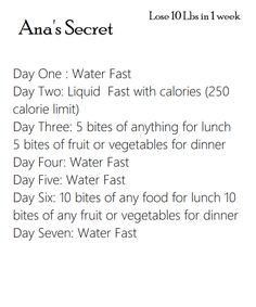 1 week Diet