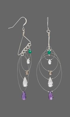 Jewelry Design - Earrings with Gemstone Beads, Accu-Flex® Beading Wire and Sterling Silver-Filled Wire - Fire Mountain Gems and Beads
