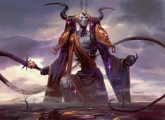 Erebos, Dieu de la Mort et de l'Agonie - by PeteMohrbacher