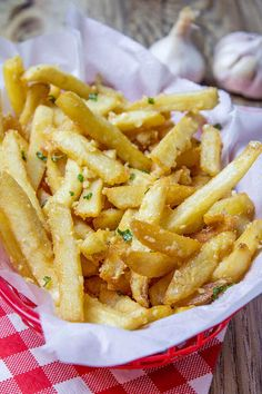 Loaded Garlic French Fries via @bestblogrecipes
