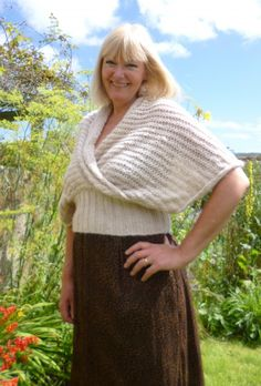 Allegro Shawl by Purl Alpaca Designs - knitted and modeled by Jeanne Rayment Shawl, Gloves, Knitting, Gallery, Model, How To Wear, Beauty, Design, Tricot