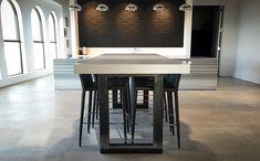 Custom Concrete Table Portfolio - Trueform