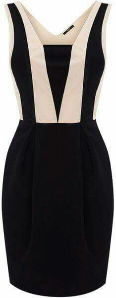 Colourblock Panel Dress: Oh my goodness is this dress beautiful or what? It looks so elegant and classy, so not fit for someone like me, but it's just so beautiful. Mode Style, Style Me, Pretty Dresses, Beautiful Dresses, Short Dresses, Dresses For Work, Love Fashion, Womens Fashion, Ladies Fashion