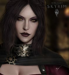 Dawnguard DLC art. I love Serana! She's like my best friend in Skyrim. She's a great follower and fighter.
