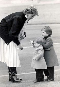 Princess diana harry and william....