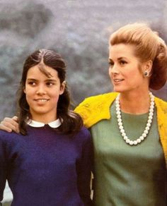 Princess Grace with her daughter Caroline (12) in 1969.