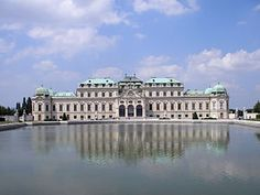 Upper Belvedere - baroque palace which houses world's largest collection of Gustav Klimt art