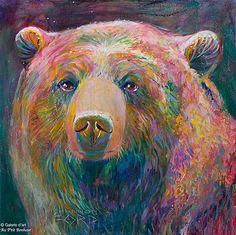 Shannon Ford, 'Sweet Grizzly', 24'' x 24'' | Galerie d'art - Au P'tit Bonheur - Art Gallery