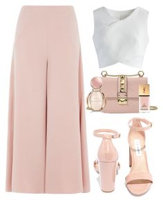 """Simplistic glam"" by etherealdior ❤ liked on Polyvore featuring Steve Madden, Topshop, Chicwish, Valentino, Bulgari and Yves Saint Laurent"