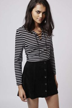 PETITE Tie-Up Stripe Top - New In This Week - New In - Topshop USA