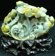 Emerald Fishes - Hand Carved From One Solid Piece Of Emerald Jade