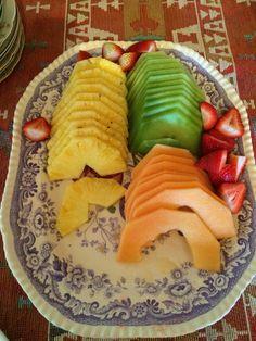Yummy fruit plate.