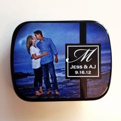 Guests will love the Small Tin of Signature Mints with a photograph of the bride and groom. Another great memory piece for a fabulous wedding! #promotionalproducts
